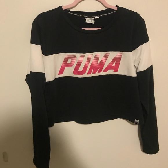 Puma Tops - Cropped Puma Long Sleeve